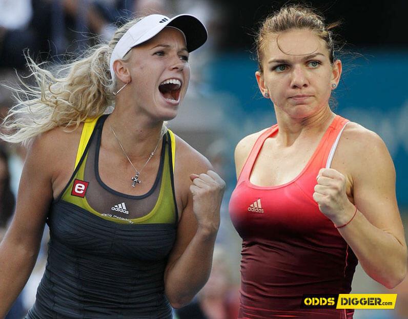 Resultado de imagen de Simona Halep vs Caroline Wozniacki